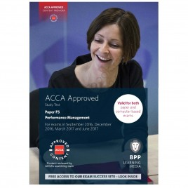 ACCA Paper F5 Performance Management Study Text 2016 2017 BPP