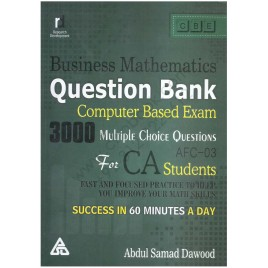 3000 MCQs Business Mathematics Question Bank By Abdul Samad Dawood