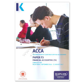 ACCA Paper F3 Financial Accounting Study Text 2016 2017 Kaplan