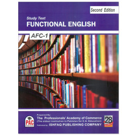 CA AFC 1 Functional English Study Text 2nd Edition PAC Ishfaq Publshing