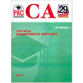 CA AFC 3 1500 MCQs Quantitative Methods 4th Edition PAC