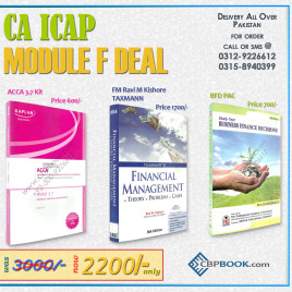 CA ICAP MODULE F BFD COMBO DEAL!!