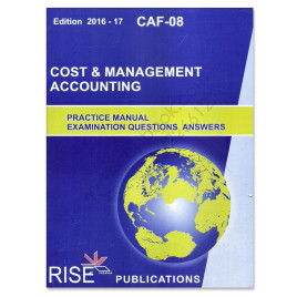 CA CAF-08 Cost & Management Accounting 2016 2017 Rise Publications