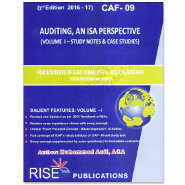 CA CAF 9 Auditing Vol. 1 2016-17 3rd Edition By M Asif Rise Publications