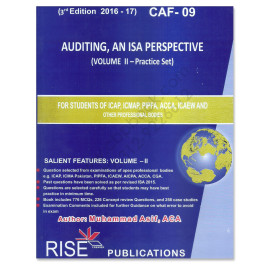 CA CAF 9 Auditing Vol. 2 2016-17 3rd Edition By M Asif Rise Publications
