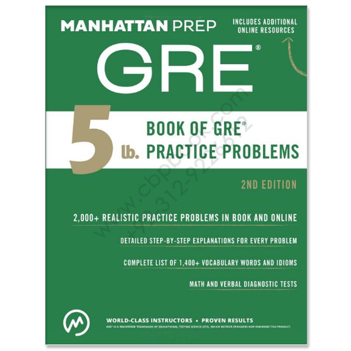 Gre product categories cbpbook pakistans largest online 5 lb book of gre practice problems manhattan prep 2nd edition fandeluxe Gallery