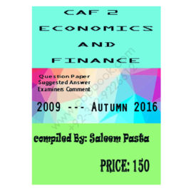 CA CAF 2 Ecocnomics and Finance Past Papers From 2009 To 2016