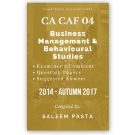 CA CAF 4 B.M.B.S. Yearly Past Papers From AUTUMN 2014 to SPRING 2018
