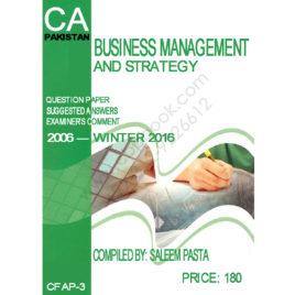 CA CFAP-03 Business Management And Strategy 2006- winter 2016