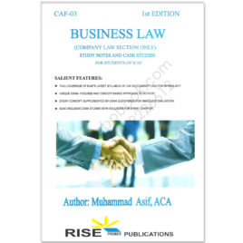 CA CAF 3 Business Law Study Notes & Case Studies By Muhammad Asif