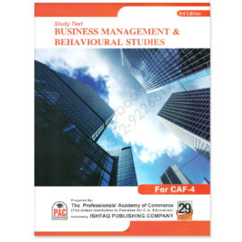 CA CAF 4 Business Management & Behvioural Studies 3rd Edition PAC
