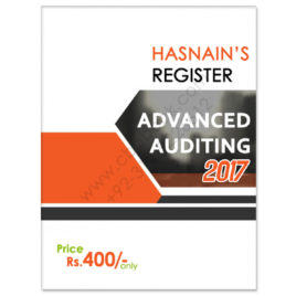 CA Module F Advanced Auditing Register 2017 by Hasnain Badami