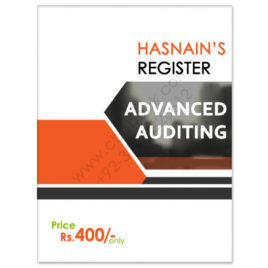 CA Module F Advanced Auditing Register by Hasnain Badami