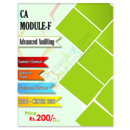 CA Module F Advanced Auditing Past Papers Yearly upto Winter 2016