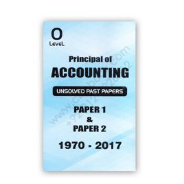 O Level Principal of Accounting Unsolved 1970 – 2017 –  FP Printers