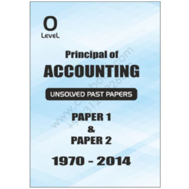 O Level Principal of Accounting Unsolved June 2016 without Mark Scheme