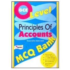 O Level PRINCIPLES OF ACCOUNTS MCQ Bank REDSPOT Publishing