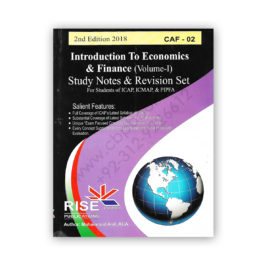 CA CAF 2 ECONOMICS Study Notes & Revision Set 2018 (Vol.1) By M Asif – RISE