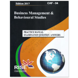 CA CAF 4 BMBS Practice Manual Examination Q. & A. 2017 Rise Publications