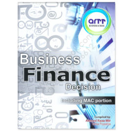 CA CFAP 4 Business Finance Decision Including MAC Portion By Ahmed Raza Mir