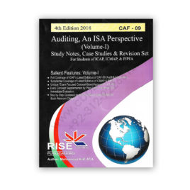 CA CAF 9 Auditing Vol I An ISA Perspective 2018 By Muhammad Asif – RISE