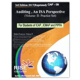 CA CAF 9 Auditing Vol II An ISA Perspective 2017 By Muhammad Asif – RISE