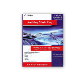 CA CAF 9 Auditing 4th Edition (Includes ICAP Topical Past Papers) By Atif Abidi