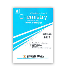 A Level Classified/Topical CHEMISTRY P1 MCQs 2017 – Green Hall