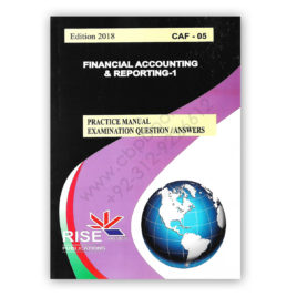 CA CAF 5 Financial Accounting and Reporting 1 2018 By Adnan Rauf RISE