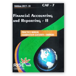 CA CAF 7 Financial Accounting and Reporting 2 2017-18 By Adnan Rauf RISE