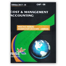 CA CAF-08 Cost & Management Accounting 2017-18 Rise Publications