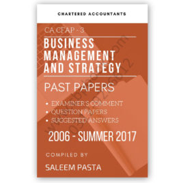CA CFAP 3 Business Management Yearly Past Papers From 2006 To Summer 2018