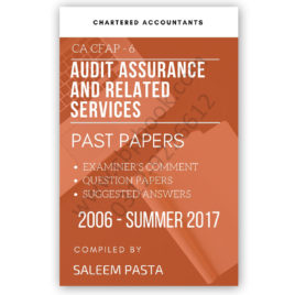 CA CFAP 6 Advanced Auditing Yearly Past Papers From 2006 To Winter 2017