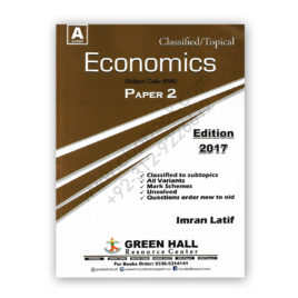 A Level ECONOMICS Paper 2 Classified/Topical By Imran Latif – Green Hall