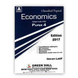 A Level ECONOMICS Paper 4 Classified/Topical By Imran Latif – Green Hall