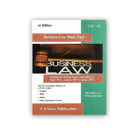CA CAF 3 Business Law Made Easy By Atif Abidi 1st Edition – CA Notes