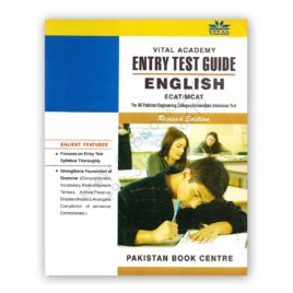 Vital ECAT / MCAT ENGLISH ENTRY TEST GUIDE – Pakistan Book Centre