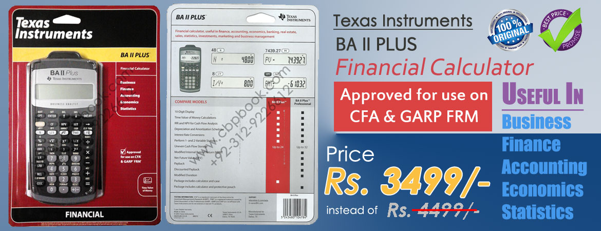 cfa financial calculator ba ii plus