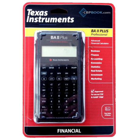 Texas Instruments Advanced Financial Calculator ba 2 plus Professional approved for use on cfa and garp frm