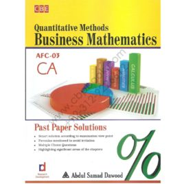 ca afc 3 quantitive methods business mathematics past papes solution
