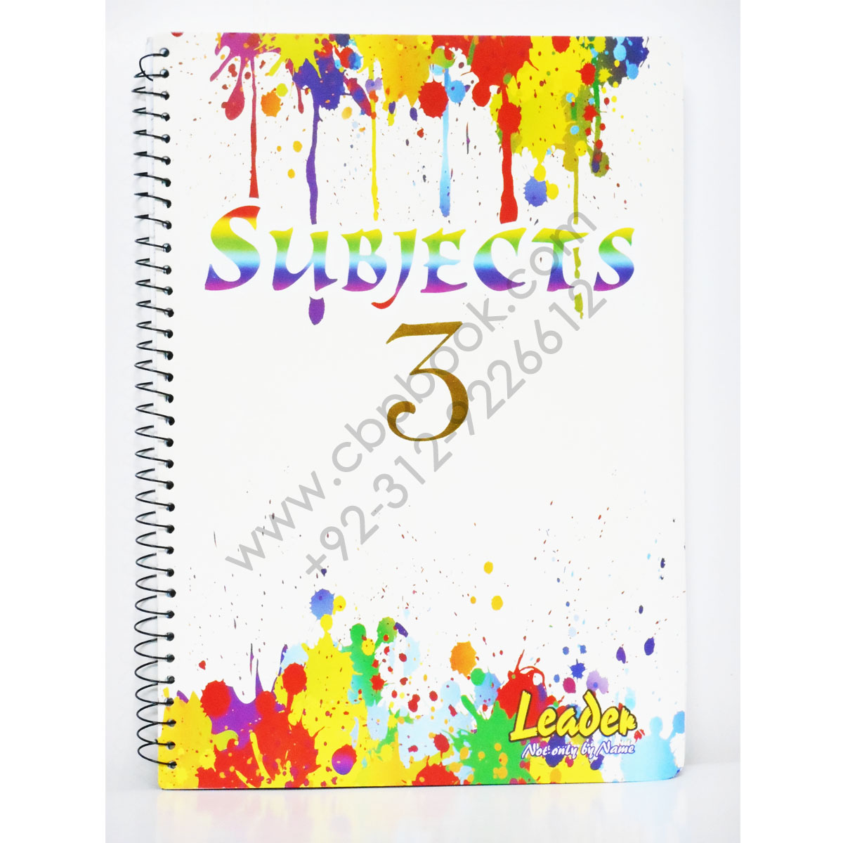 leader 3 subject spiral notebook 180 pages