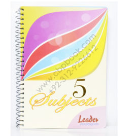 leader 5 subject spiral notebook 300 pages