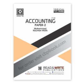 o level accounting paper 2 (art#103) topical by m nauman malik - read & write