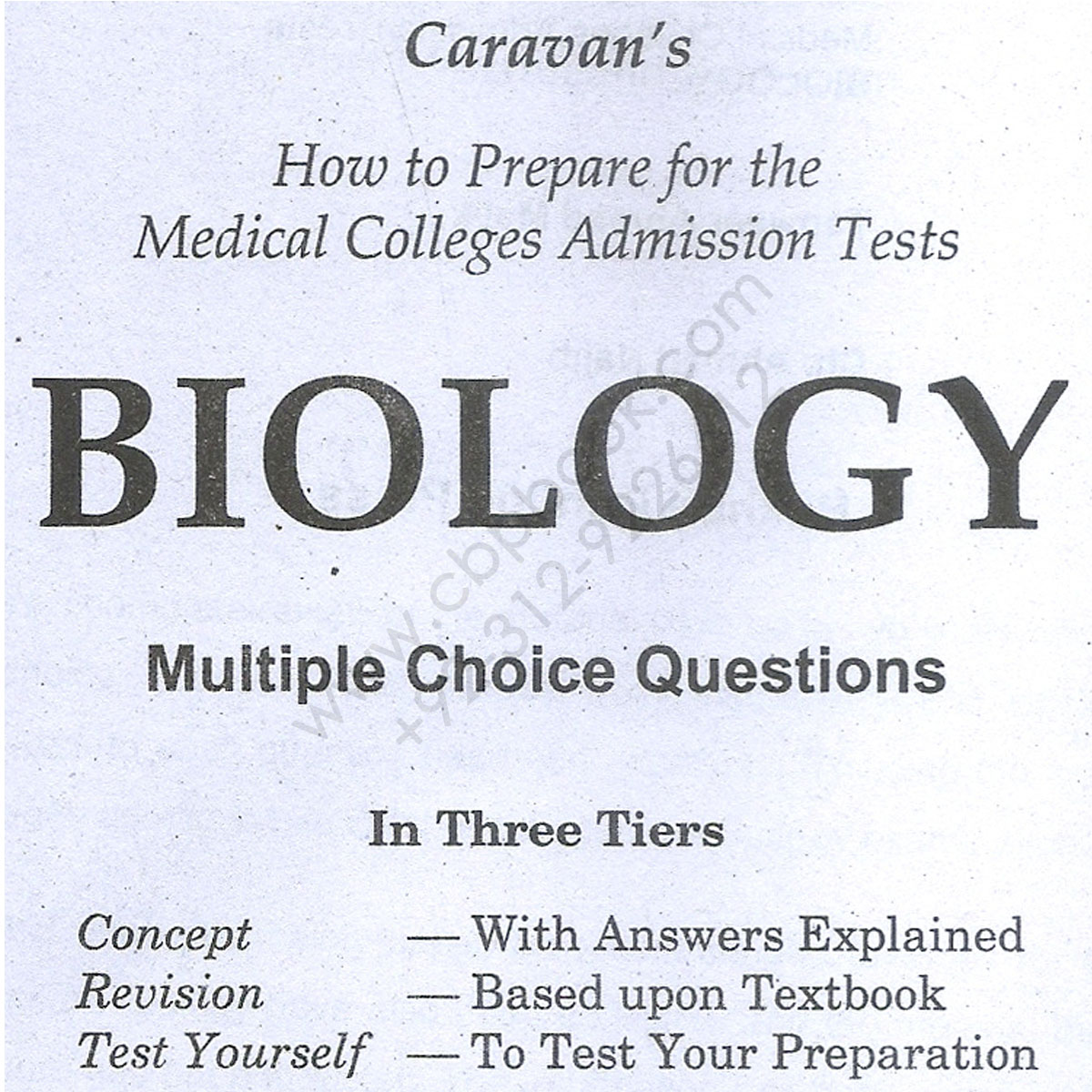 Caravan MCAT Biology MCQs With Explaind Answers - CBPBOOK