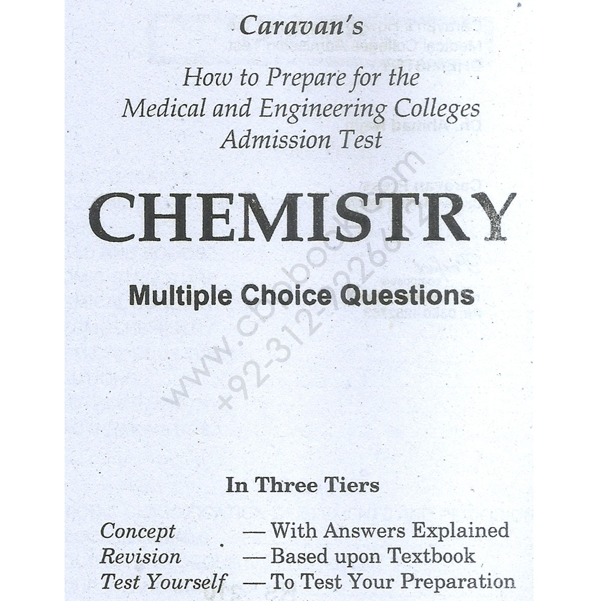 Caravan MCAT / ECAT Chemistry MCQs With Explaind Answers - CBPBOOK