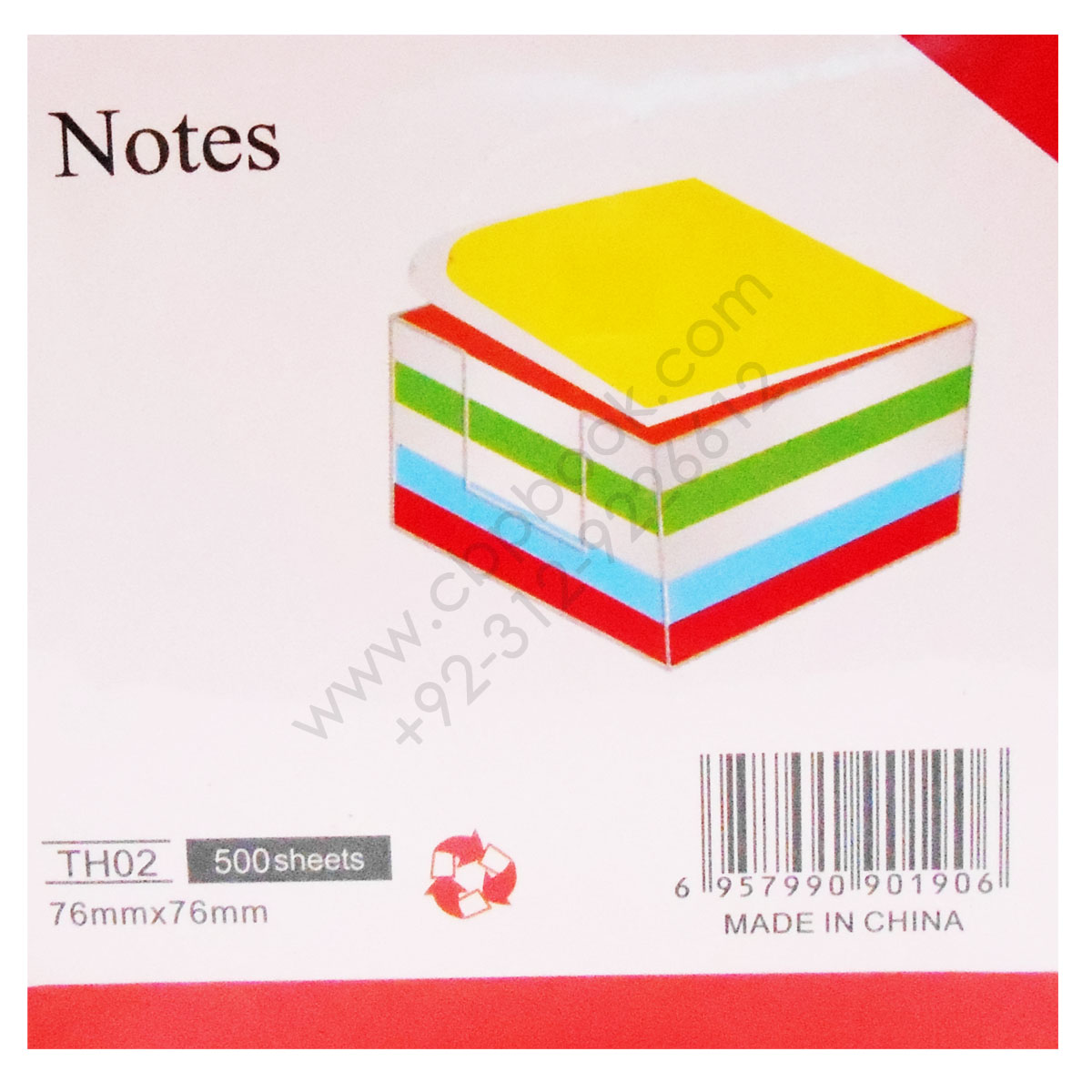 notes th02 500 sheets 76mmx76mm