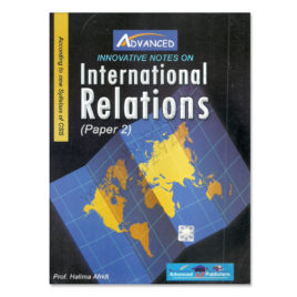 advanced international relations paper 2 by prof halima afridi