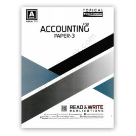 a2l accounting p3 topical solution (art#113) by M Nauman Malik - Read & Write