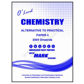 o level chemistry paper 4 unsolved past papers from 2004 to june 2016