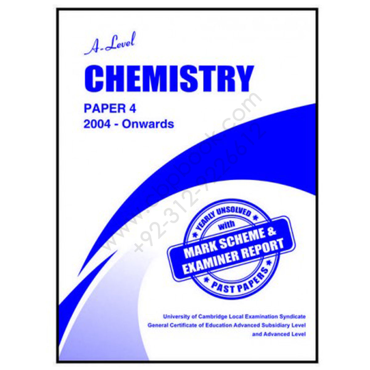 A Level CHEMISTRY Paper 4 Yearly Unsolved with Mark Scheme 2012 - Nov 2018